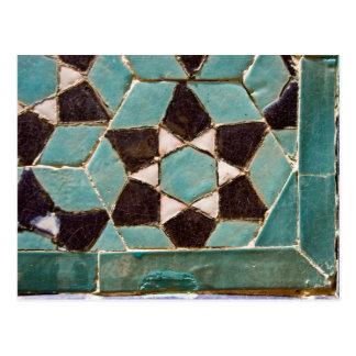 Mosaico esmaltado de la teja tarjeta postal