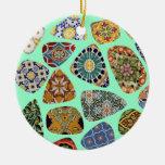 Mosaico español y mexicano de la teja ornamento para reyes magos