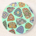 Mosaico español y mexicano de la teja posavasos personalizados