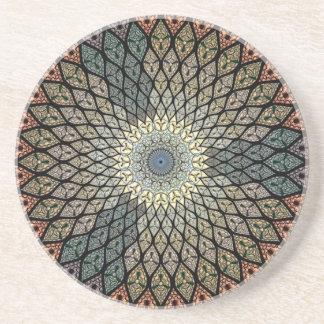 Mosaico espiral posavasos de arenisca