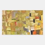 Mosaico fracturado pegatina rectangular