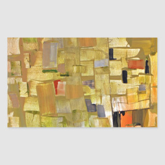 Mosaico fracturado rectangular altavoz