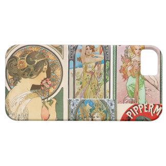 Mosaico francés del arte de las mujeres de Nouveau iPhone 5 Case-Mate Protector