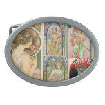 Mosaico francés del arte de las mujeres de Nouveau Hebilla De Cinturon
