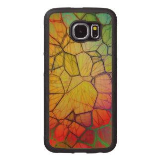 Mosaico Funda De Madera Para Samsung Galaxy S6