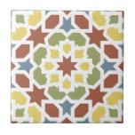 Mosaico geométrico de arabescos de Marruecos. Azulejo Cuadrado Pequeño