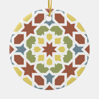 Mosaico geométrico de arabescos de Marruecos. Adorno Para Reyes