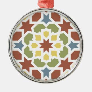 Mosaico geométrico de arabescos de Marruecos. Ornatos