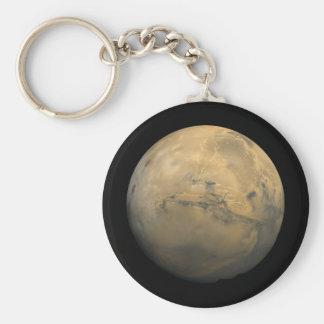 Mosaico global de Marte Llavero Redondo Tipo Pin