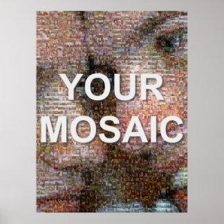 Mosaico grande (retrato) poster