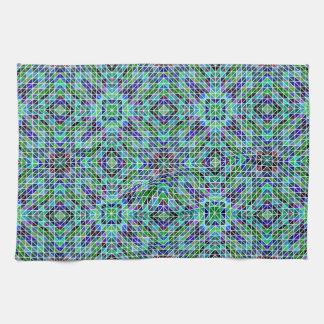 Mosaico inconsútil coloreado del triángulo toalla de cocina
