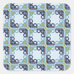 Mosaico italiano moderno del renacimiento pegatinas cuadradases