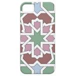 Mosaico JADE patrón geometría árabe verde y rosa iPhone 5 Coberturas