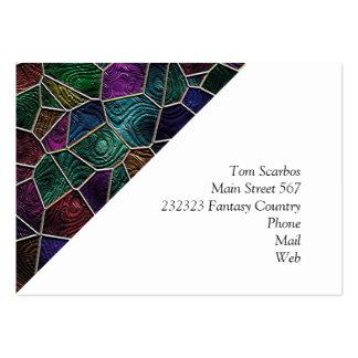 Mosaico Lora, multicolor Tarjetas De Visita Grandes