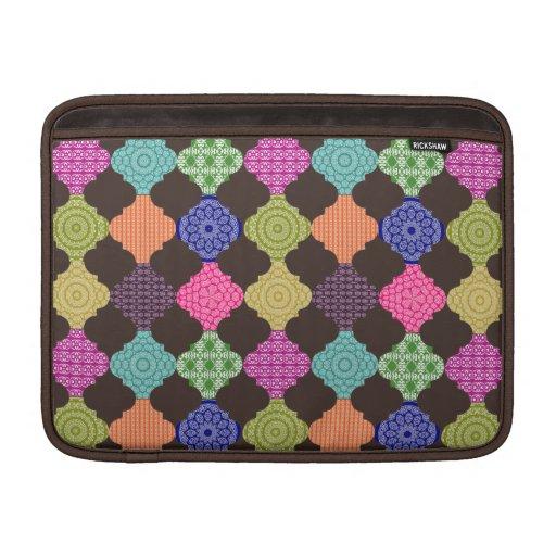 Mosaico mágico de la alfombra del bazar de Boho Funda Macbook Air