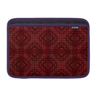 Mosaico marrón del triángulo funda para macbook air