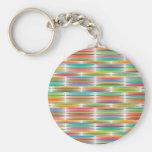 Mosaico multicolor abstracto del arco iris del llavero personalizado