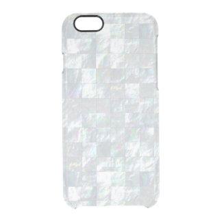 Mosaico nacarado funda clearly™ deflector para iPhone 6 de uncommon
