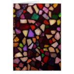 Mosaico negro multicolor felicitacion