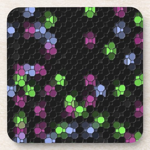 mosaico negro posavasos
