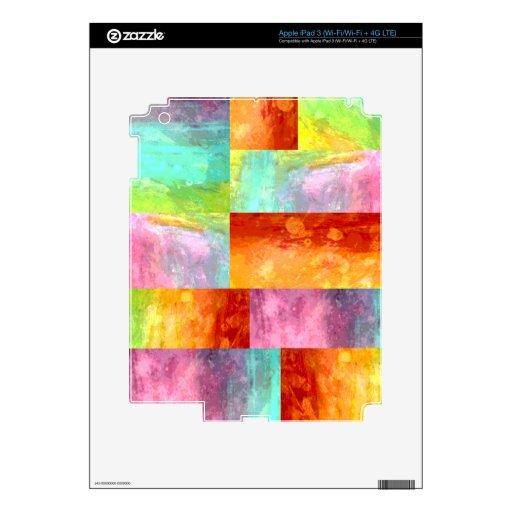 Mosaico Painterly Pegatina Skin Para iPad 3
