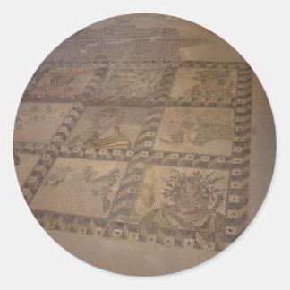 mosaico pegatina redonda