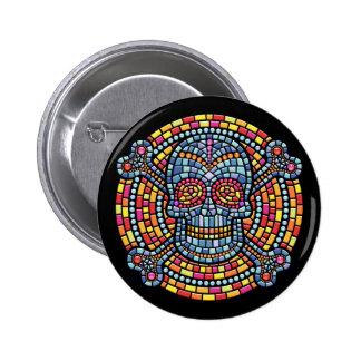 Mosaico Pirata-HASTA Pin Redondo De 2 Pulgadas