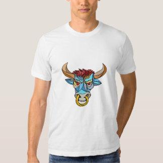 Mosaico principal enojado de Bull Playera