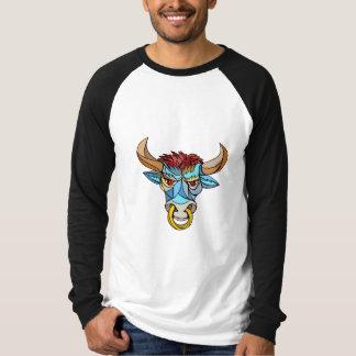 Mosaico principal enojado de Bull Remera