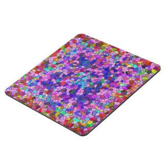 Mosaico pulido de la púrpura del guijarro posavasos de puzzle