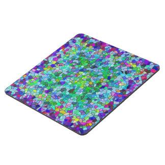 Mosaico pulido del azul del guijarro posavasos de puzzle