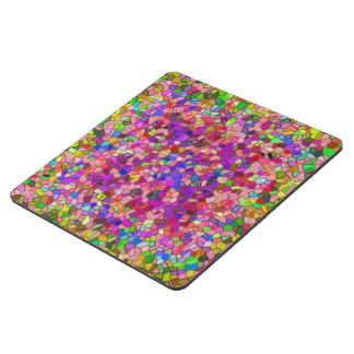 Mosaico pulido del rosa del guijarro posavasos de puzzle