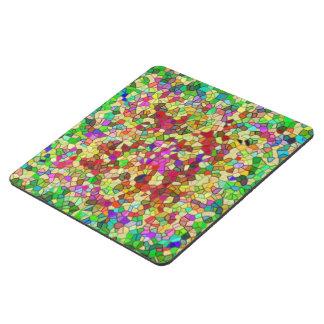 Mosaico pulido del verde del guijarro posavasos de puzzle