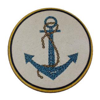 Mosaico punteado redondo del ancla del medallón fichas de póquer