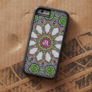 Mosaico púrpura de la flor de la margarita blanca