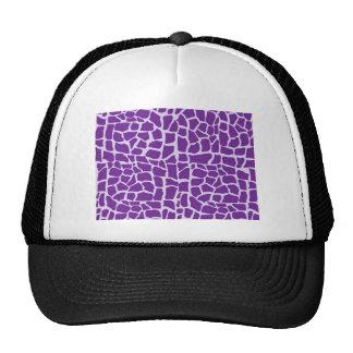 Mosaico púrpura del modelo de la jirafa gorros bordados