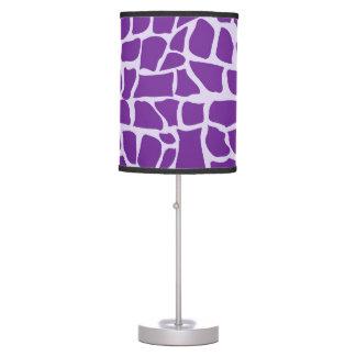 Mosaico púrpura del modelo de la jirafa lámpara de mesa