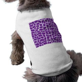 Mosaico púrpura del modelo de la jirafa ropa de perros