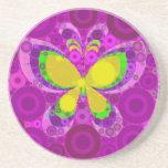 Mosaico púrpura fresco de los círculos concéntrico posavasos para bebidas