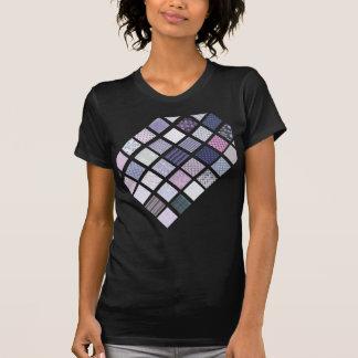 Mosaico púrpura y blanco camiseta
