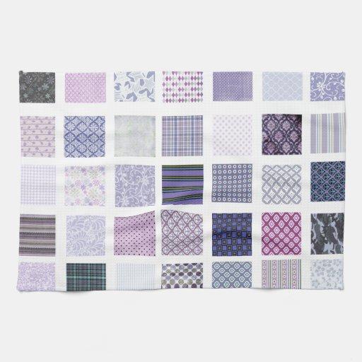 Mosaico púrpura y blanco toallas