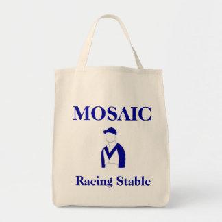Mosaico que compite con el tote estable del ultram bolsa lienzo