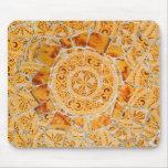 Mosaico quebrado de la teja tapete de raton