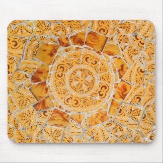 Mosaico quebrado de la teja tapete de ratones