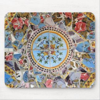 Mosaico quebrado Mousepad de la teja