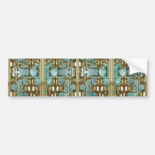Mosaico refinado del modelo pegatina de parachoque