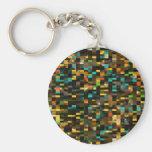 Mosaico retro llavero personalizado