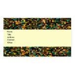 Mosaico retro plantilla de tarjeta de negocio