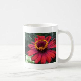 Mosaico rojo de la flor tazas