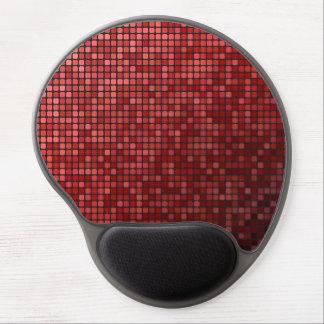 Mosaico rojo del pixel alfombrilla gel